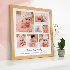 Personalised Baby Photo Collage - children's room
