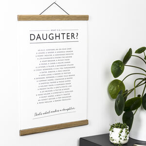 Daughter Poem Print