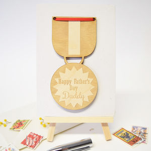 Happy Father's Day Daddy Medal Card - cards & wrap