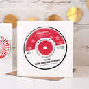 Record Label Personalised Christmas Cards