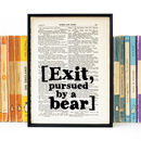 Shakespeare 'Pursued By A Bear' Stage Direction Print