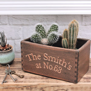 Personalised Carved Wood Storage Box