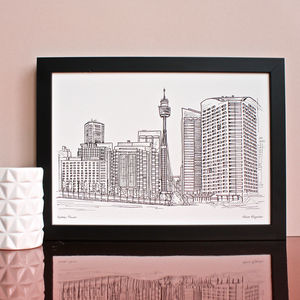 Sydney Tower Print - maps & locations