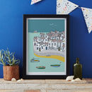 Coastal Village Art Print