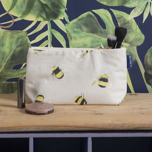 Toiletries Bag, Wash Bag In Busy Bees