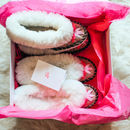 Sheepskin Sen Slippers Duo Matching Set