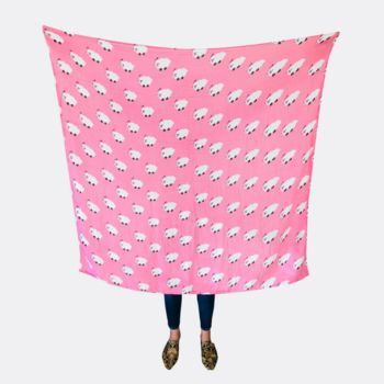 Baby Girl Pink Muslin Swaddle Blanket Pink Sheep