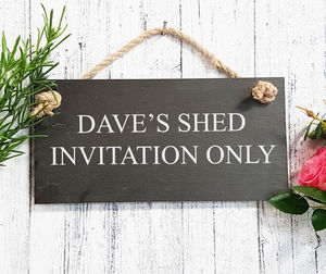 Personalised Engraved Garden Slate Sign - gifts for him