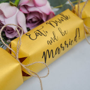 Wedding Favour Crackers Eat, Drink And Be Married - table decorations