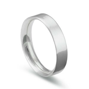 Flat Court Heavy Silver Ring