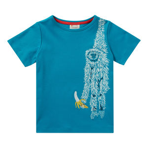 Unisex Teal Blue Short Sleeved Sloth Summer T Shirt