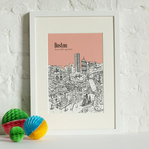 Personalised Boston Print - maps & locations