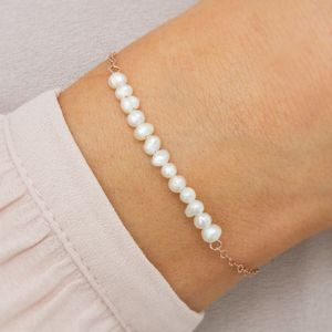 Anja Personalised Freshwater Pearl Bracelet - children's jewellery