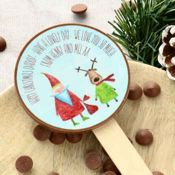 Personalised Christmas Message Lolly