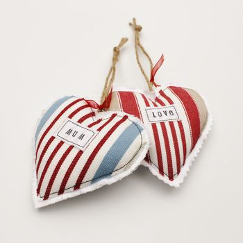 Personalised Padded Heart Decoration
