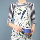 Swallow And Blossom Baking Floral Apron