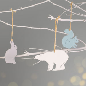 Winter Animals Christmas Tree Decorations - tree decorations
