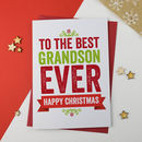 Best Ever Grandson Christmas Card