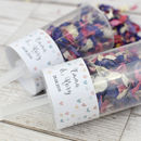 Heart Personalised Wedding Confetti Pops