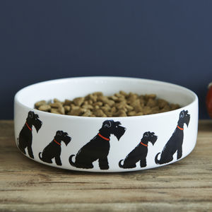 Black Schnauzer Dog Bowl - food, feeding & treats
