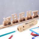 Personalised Wooden Name Train And Display Track
