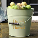 Meadow Green Personalised Storage Bucket
