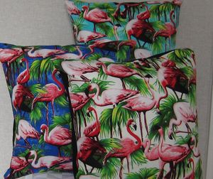 Flamingo Cushion Cover - on trend: tropical