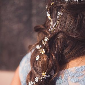 Ethereal Floral Bridal Halo Or Hairvine - wedding fashion