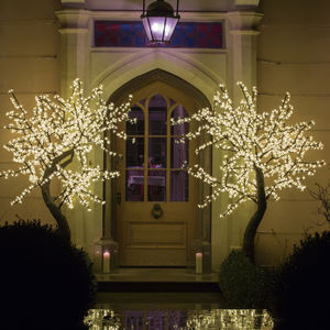 Medium LED Cherry Tree - outdoor decorations