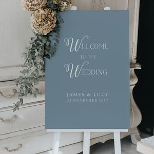 Wizard Welcome Sign - new in wedding styling