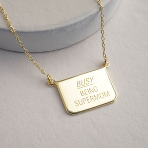 Busy… Silver Or Gold Necklace