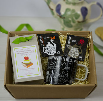 Teacher Gift Diy Tea And Biscuits Hamper