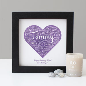 Personalised Watercolour 50th Birthday Gift - dates & special occasions