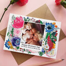 Personalised Happy Mother's Day Floral Photo Card
