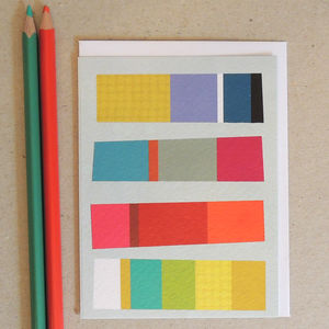 Coloured Stripes Greetings Card