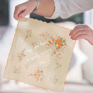 Personalised Get Better Soon Handkerchief - handkerchiefs
