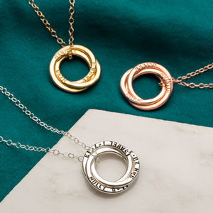 Personalised Russian Ring Necklace - gifts for her