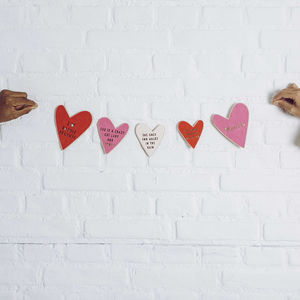 'Why I Love' Personalised Valentines Bunting - valentine's day decorations
