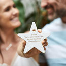 Personalised Graduation Wooden Star Keepsake