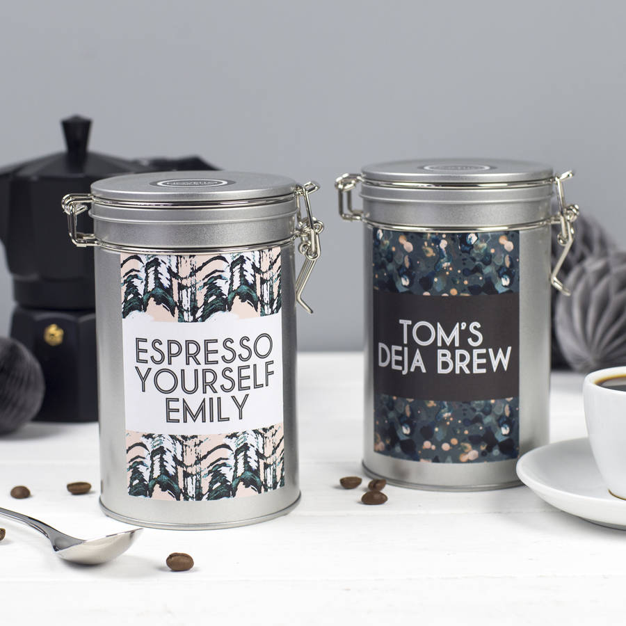 Personalised Coffee Gift Tin By Novello