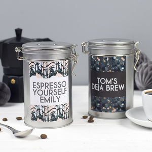 Personalised Coffee Gift Tin