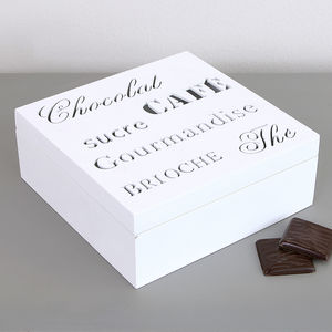 French Cafe Sweet Treats Storage Box - canisters