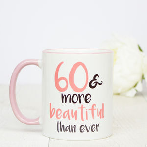 60th Birthday Gift Mug - dining room