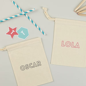 Cotton Drawstring Favour Bags - personalised