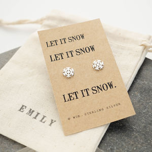 Snowflake Earrings - earrings