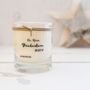 Personalised Graduation Scented Candle - graduation gifts