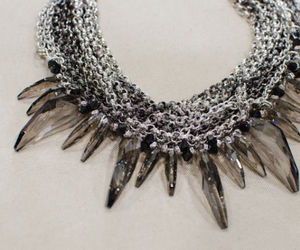Swarovski Crystal And Chain Choker - necklaces & pendants