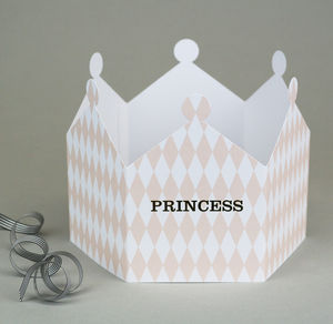 Princess Harlequin Crown Card