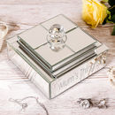 Personalised Luxury Amelie Mirrored Jewellery Box