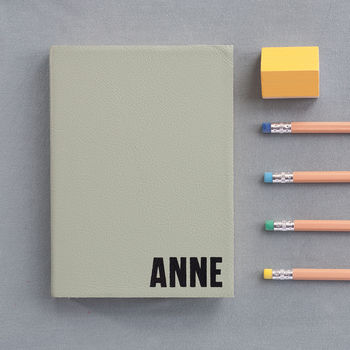Personalised Notebook Leather Bound